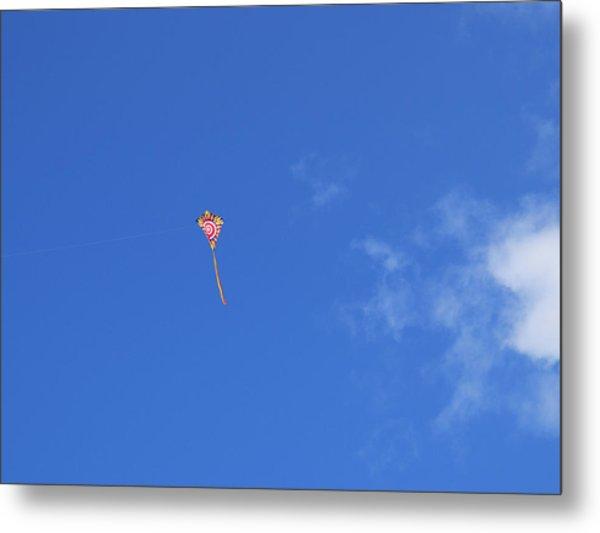 Kite Flying  Metal Print by Carol McCutcheon