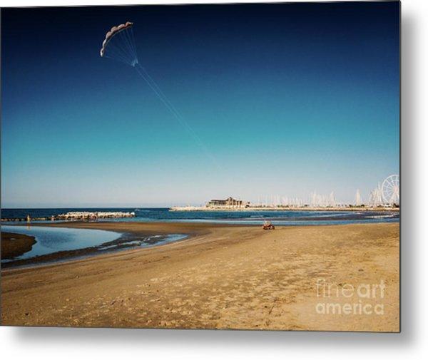 Kitesurf On The Beach Metal Print
