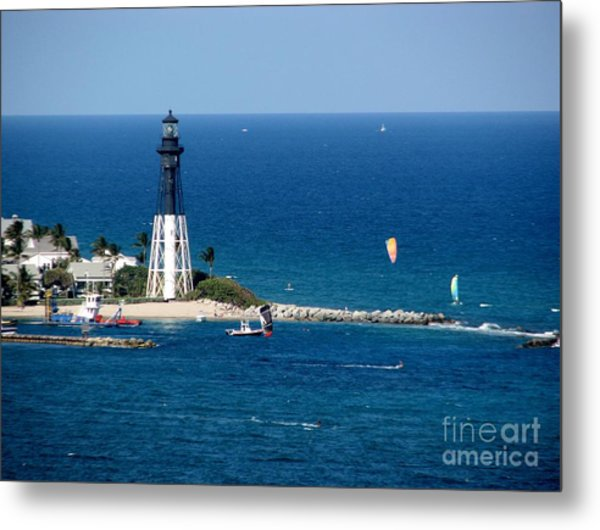 Kitesurfing And More At Pompano Metal Print