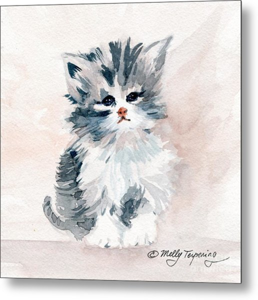 Kitten Portrait Metal Print