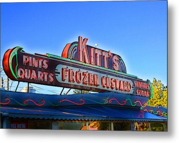 Kitts Frozen Custard Stand Metal Print