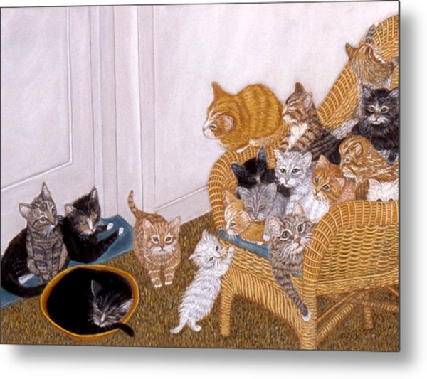 Kitty Litter II Metal Print