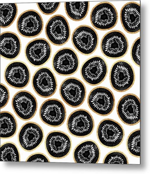 Kiwi Pattern Metal Print