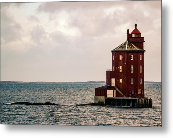 Kjeungskjaer Lighthouse Norway Metal Print