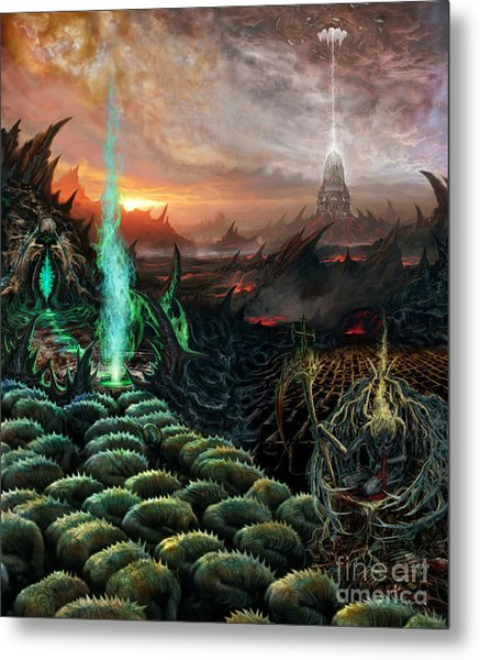 Kneel Away Your Power Metal Print