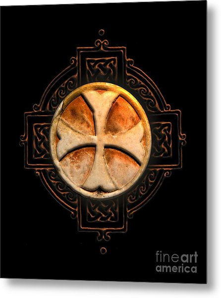 Knights Templar Symbol Re-imagined By Pierre Blanchard Metal Print