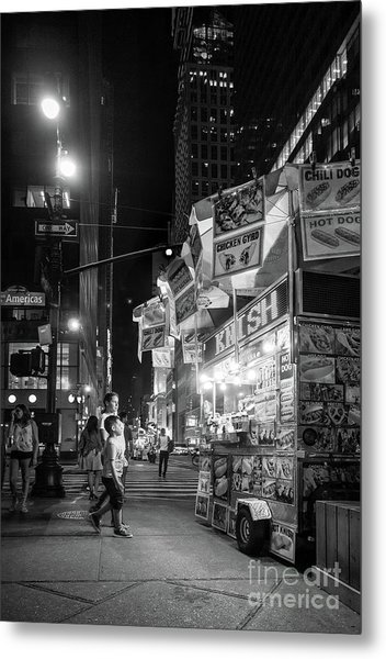 Knish, New York City  -17831-17832-bw Metal Print