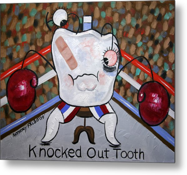 Knocked Out Tooth Metal Print