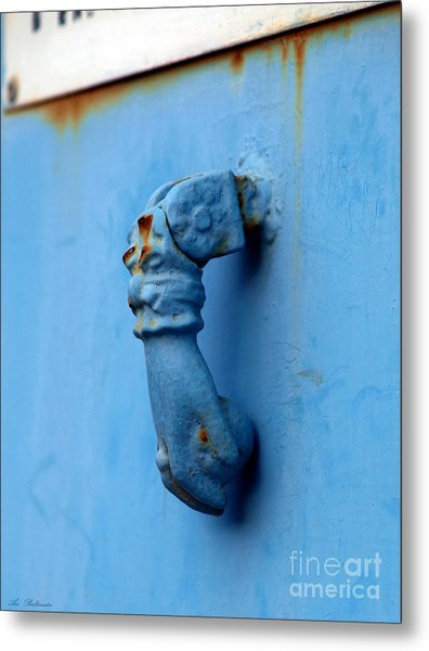Knocker Face Metal Print