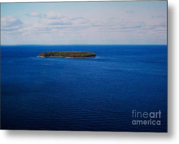 Know Man Is An Island Metal Print by Marsha Heiken