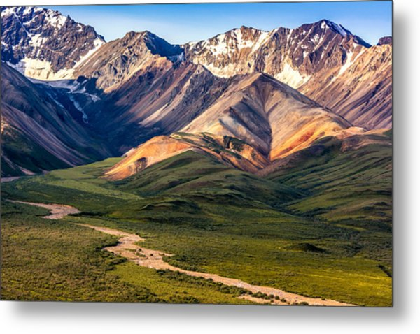 Kodachrome Pass Denali Closeup Metal Print