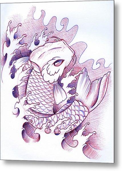 Koi Carp Tattoo Art Metal Print