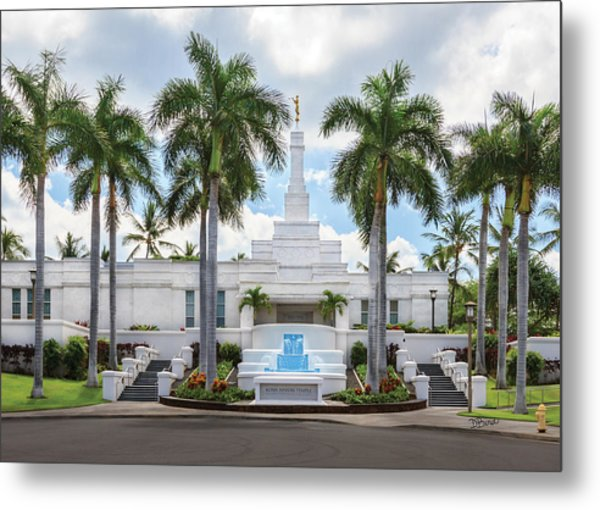 Kona Hawaii Temple-day Metal Print