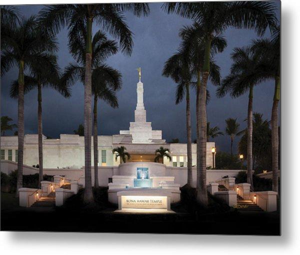 Kona Hawaii Temple-night Metal Print