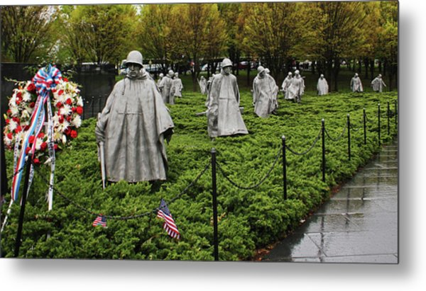 Korean War Veterans Memorial Metal Print