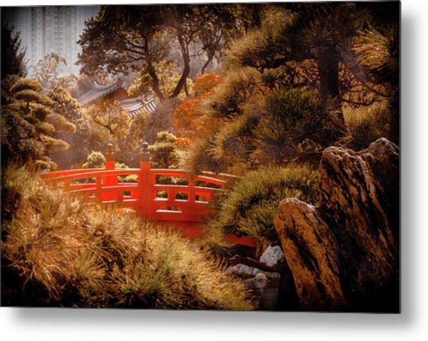 Kowloon - Red Bridge Metal Print