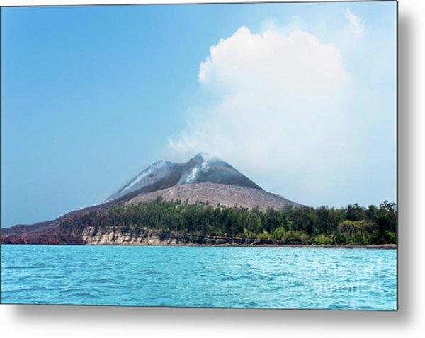 Krakatoa Mountain Metal Print