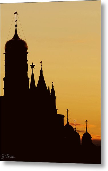 Kremlin Dusk Metal Print by Joe Bonita