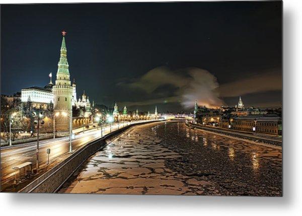 Kremlin View Metal Print