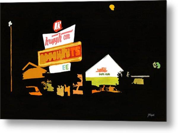 Krispy Kreme At Night Metal Print