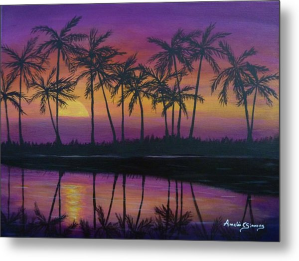 Kristine's Sunset Metal Print