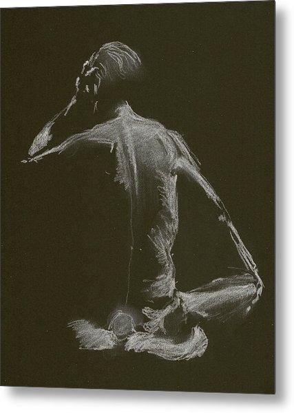 Kroki 2015 01 10_14 Figure Drawing White Chalk Metal Print