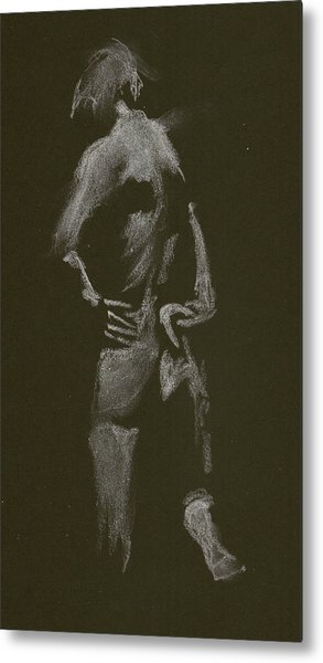 Kroki 2015 01 10_7 Figure Drawing White Chalk Metal Print