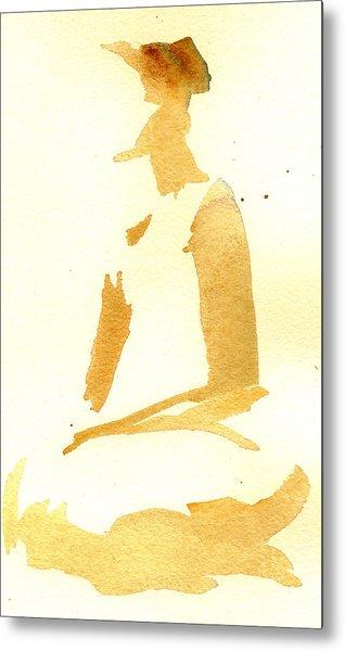 Kroki 2015 03 28_29 Maalarhelg 3 Akvarell Watercolor Figure Drawing Metal Print
