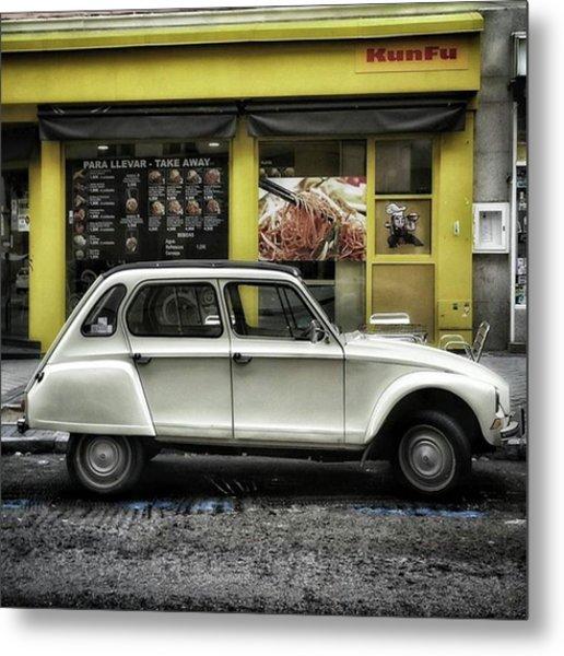 Kunfu Car #2cv #dyane #dyane6 Metal Print