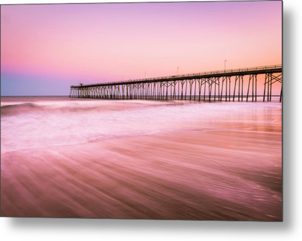 Metal Print featuring the photograph Kure Beach Fishing Pier At Sunset by Ranjay Mitra