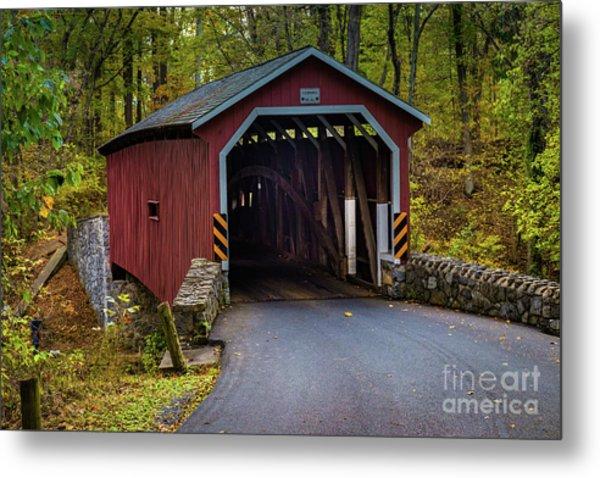 Kurtz Mill Covered Bridge Metal Print