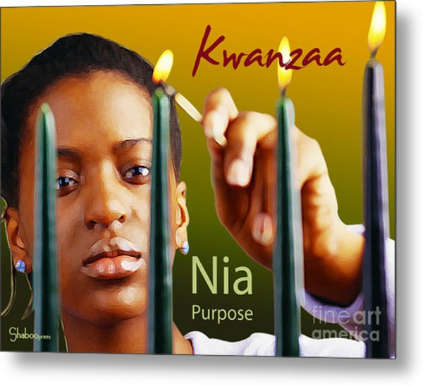 Kwanzaa Nia Metal Print