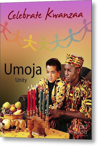 Kwanzaa Umoja Metal Print