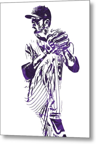 Kyle Freeland Colorado Rockies Pixel Art 1 Metal Print