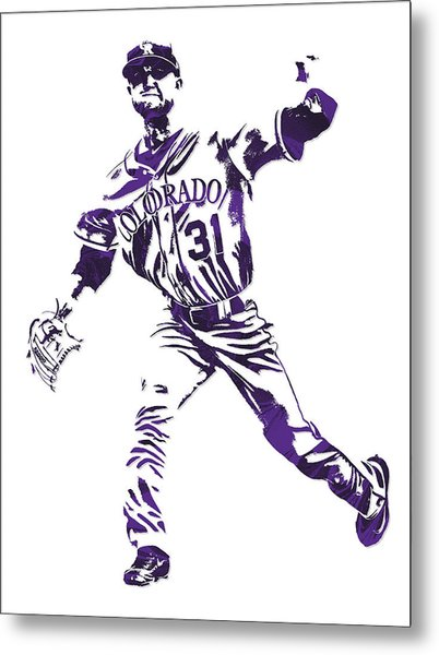 Kyle Freeland Colorado Rockies Pixel Art 2 Metal Print