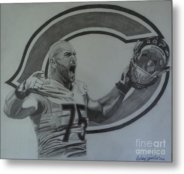 Kyle Long Of The Chicago Bears Metal Print