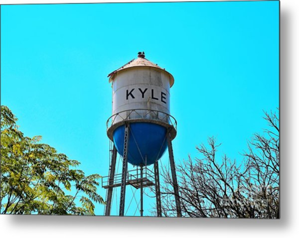 Kyle Texas Water Tower Metal Print