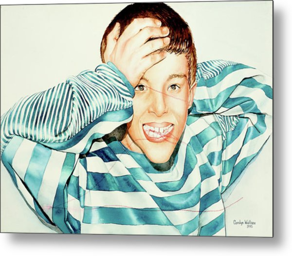 Kyle's Smile Or Fragile X Stressed Metal Print