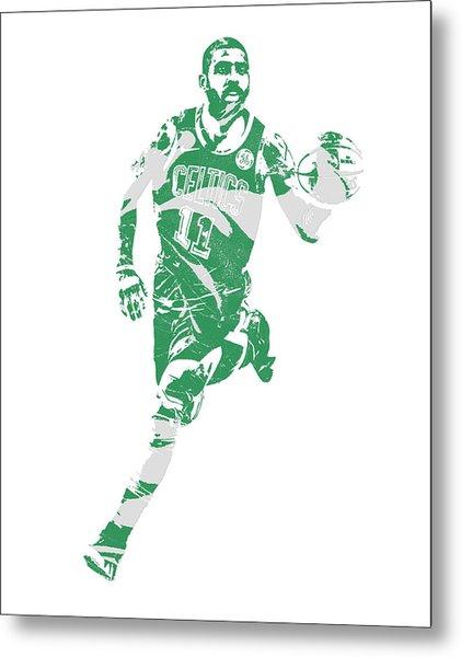 Kyrie Irving Boston Celtics Pixel Art 60 Metal Print