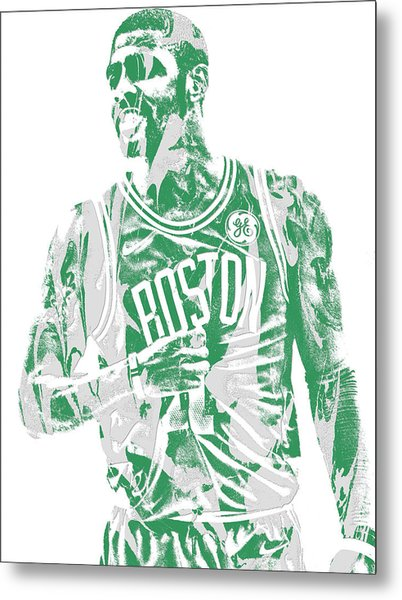 Kyrie Irving Boston Celtics Pixel Art 7 Metal Print