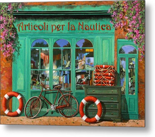 La Bicicletta Rossa Metal Print