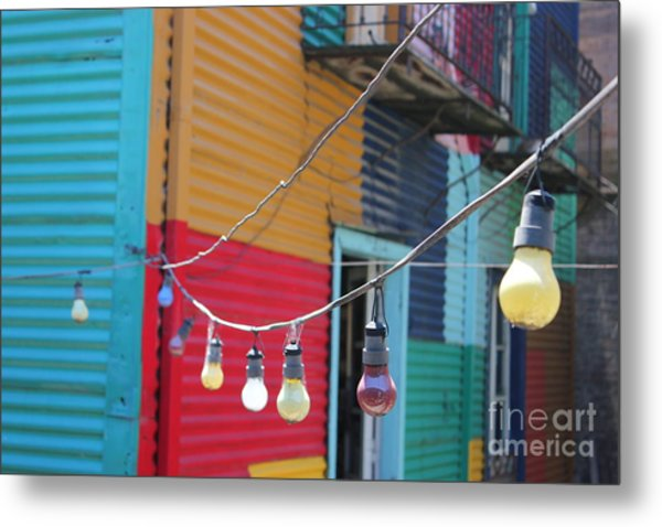 La Boca Lightbulbs Metal Print
