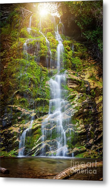 Metal Print featuring the photograph La Chute by Elena Elisseeva
