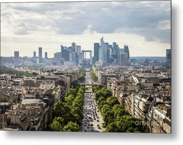 La Defense Paris Metal Print