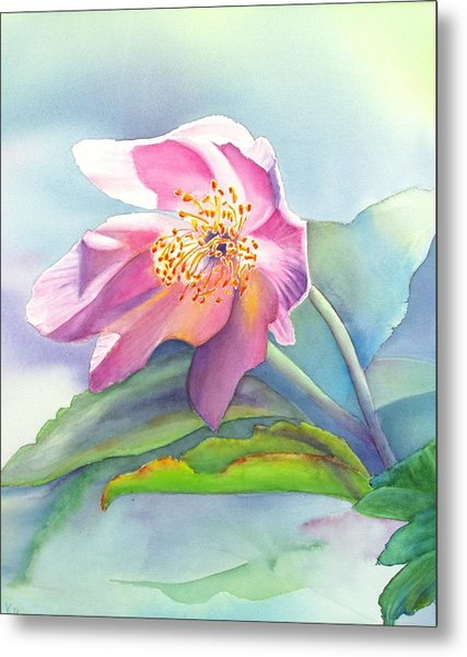 La Fleur Rose Metal Print