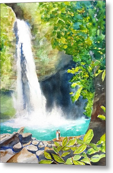 La Fortuna Waterfall Metal Print