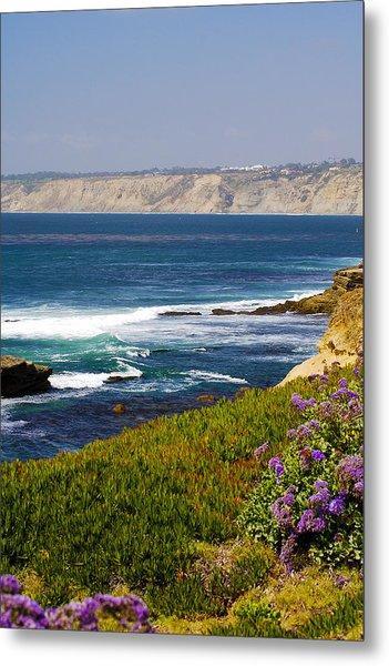 La Jolla Cliffs Metal Print by Keith Ducker