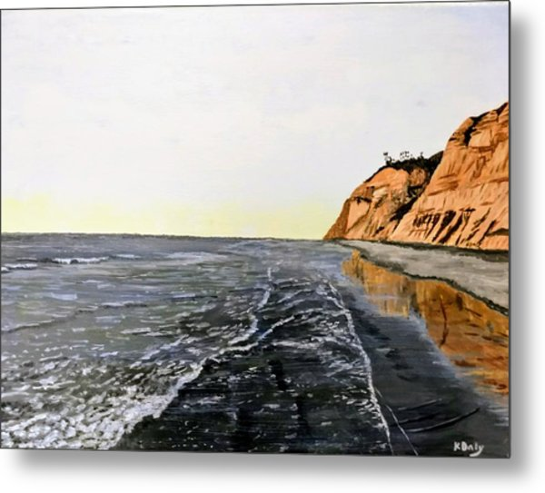 Metal Print featuring the painting La Jolla Shoreline by Kevin Daly