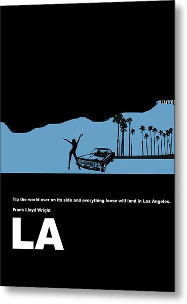 La Night Poster Metal Print