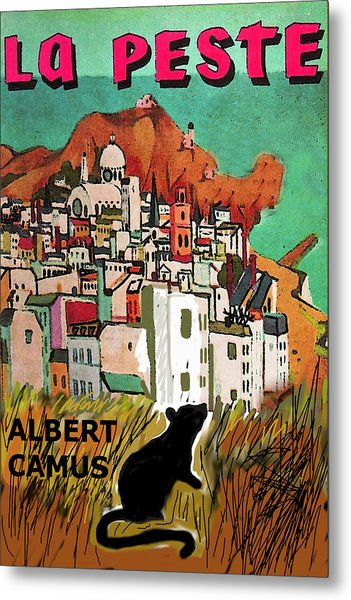 La Peste  Albert Camus Poster Metal Print